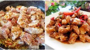 Tốn cơm với món sụn heo rim cá mắm đậm đà hương vị Việt